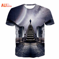 Alisister Men Women S Galaxy Space T Shirt Print I Could See The Universe 3D T