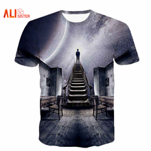 Alisister Men/Women's Galaxy Space T-Shirt Print I Could See The Universe 3D T Shirt  Casual Unisex Tshirts Harajuku Tee Shirt