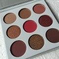A Borgonha Sombra Paleta de 9 Cores EM 1 Kyshadow Kit Maquiagem Cosméticos Shimmer Matte Eyeshadow Make Up Para O Presente de Natal