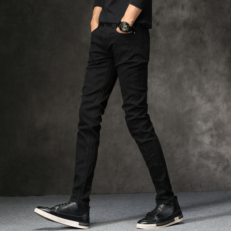 High Quality Denim Black Skinny Jeans Men