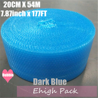 0.2*54m dark blue Heart shape Air Bubble Roll Party Favors And Gifts Packing Foam Roll Wedding Decoration Emballage Bulle Warp