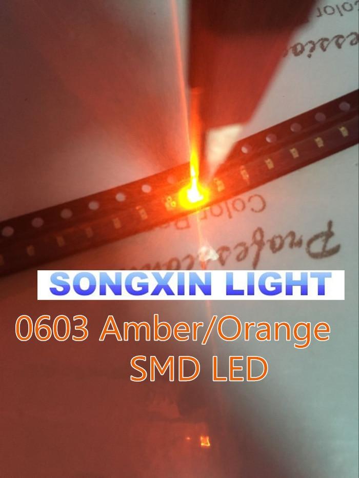 200PCS White 0603 SMD SMT Super Bright LED Brand New