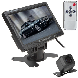 7 Inch TFT LCD Display Screen 2 Video Input Car Rear View Monitor + E313 420 TV Lines 170 Degree Reverse Backup Car Camera