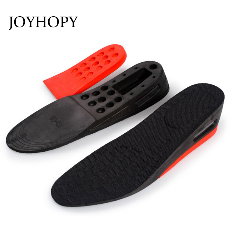 JOYHOPY 2-Layer 5.5CM Air Bubble Cushion Shoe Lift Height Increase Heel Insoles Pair Taller For Men and Women SC026 high quality new 3 layer 7cm air bubble cushion shoe lift height increase heel insoles pair taller for men and women