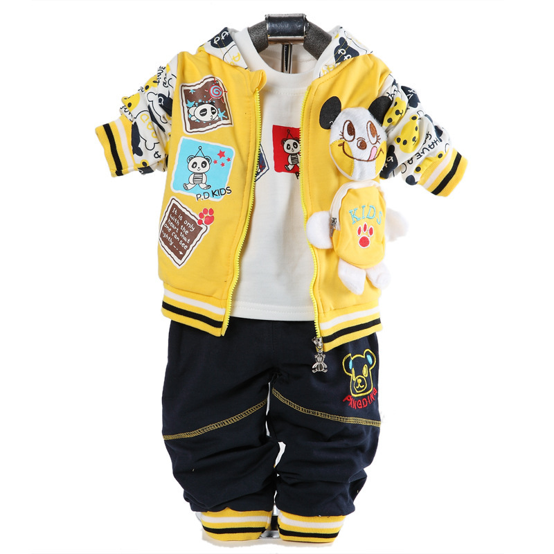 Free Shipping 2015 new spring autumn newborn boys set coat+t shirt+pants 3pcs toddler boys suits  free shipping spring autumn boys t shirt 5pcs lot high quality baby boy t shirt