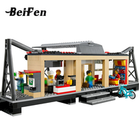 Building Blocks 60050 City Train Station LegoINGlys Bricks Railway Platform Set Model Building Toys Children Gift