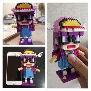 Image 4 - LOZ juguete de bloques de construcción Arale Dr Slump, juguete de figuras de acción, modelo de diamante, juguetes, 700 Uds., regalo para niños de 14 años + oficial autorizado
