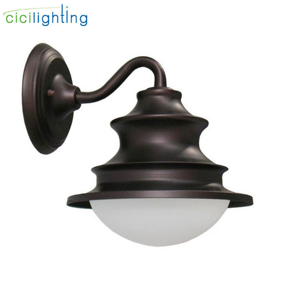 Outdoor Garden Porch Wall Lights IP54 E27 100-240V White Glass Surface Mounted Waterproof For Corridor Balcony Stair sconce lamp waterproof outdoor wall lamp balcony lamp garden lights corridor stair wall lights