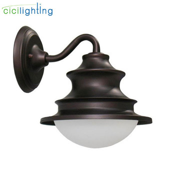 Outdoor Garden Porch Wall Lights,IP54 E27 100-240V White Glass Surface Mounted Waterproof For Corridor Balcony Stair sconce lamp