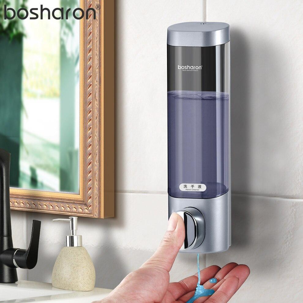 Hand Liquid Soap Dispenser Wall` Mounted 300ml Shampoo Shower Gel Detergent Hand Sanitizer For Kitchen Home Bathroom Accessories