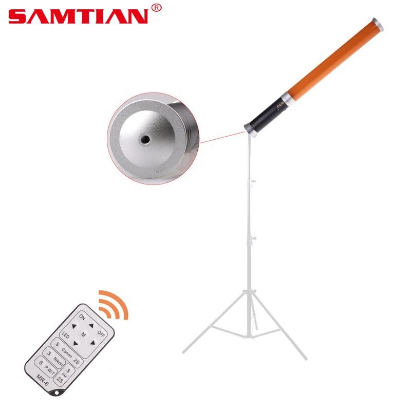 SAMTIAN Professional Handheld 20W 9V 5600k/3200k 298 LED Video Camera Magic Tube Light MTL-900 II For Camera Video Photo