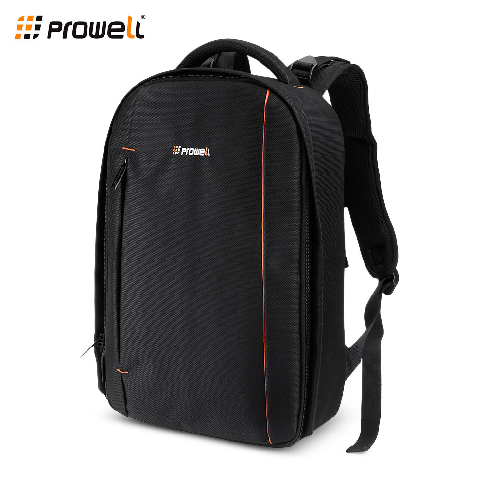 PROWELL DC22035 Water Resistant Camera Backpack Laptop Travel Daypack for Nikon Canon Sony Digital SLR techwill 45l casual lightweight water resistant backpack daypack for travel