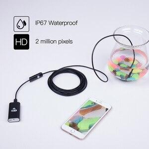 Image 3 - WIFI Endoscoop Camera 8 MM 2/5 M Waterdichte Zachte Kabel Inspectie Camera USB Endoscoop Borescope IOS Endoscoop Voor iphone