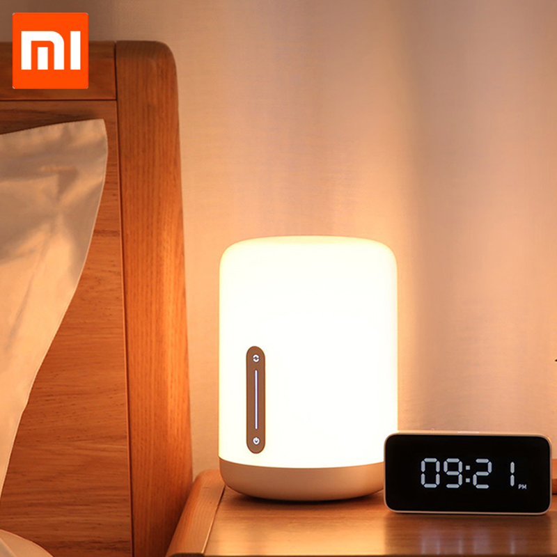 2019 Original Xiaomi Mijia Bedside Lamp 2 Bluetooth WiFi Connection Touch Panel APP Control Works for