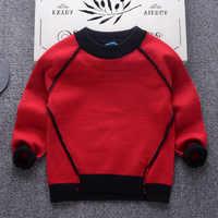 ANNUNCIO Di Natale Rosso Ragazze Maglie e Maglioni Vesti per Ragazzi Solido Ragazzi Maglie e Maglioni Autunno Ragazze di Inverno Top Outwear Abbigliamento Per Bambini