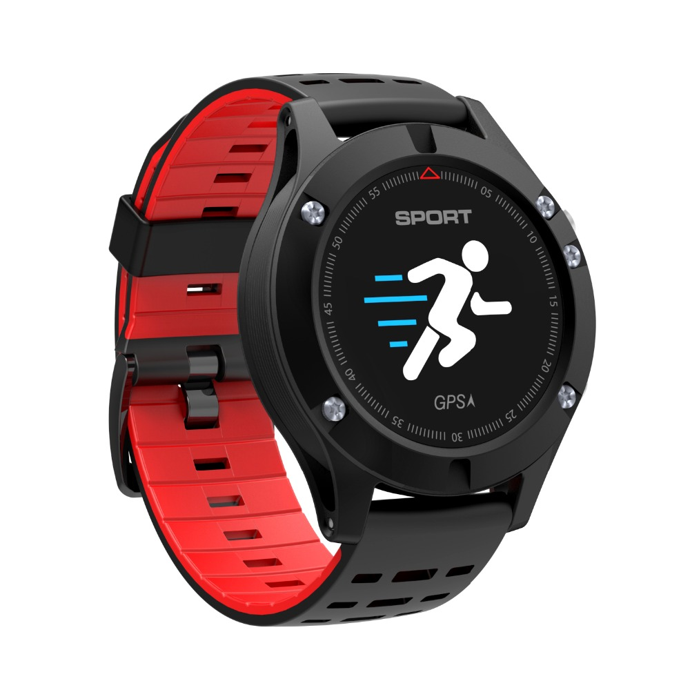 F5 Smart Watch OLED Heart Rate Blood Pressure Monitor GPS Multiple Sports Mode Altimeter Bluetooth Fitness