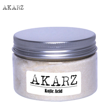 AKARZ pure 99.9% Kojic Acid 25g anti freckle treatment removal spot skin Whitening Stability lightening Stability fade freckle цены онлайн