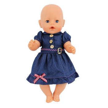 Sukienka dla lalek nadające się do 43cm laleczka bobas lalki Reborn Babies ubrania i 17 cal akcesoria dla lalek tanie i dobre opinie Tkaniny CN (pochodzenie) Dress BOYS Styl życia Koszule i bluzki 17inch Doll is not included