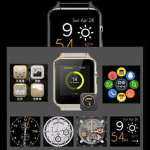 FLOVEME Android Smartwatch SIM Card Bluetooth Leather Devices