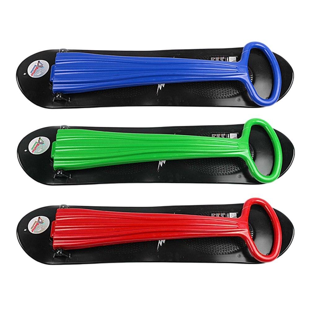 3 couleurs Sports de plein air Portable pliable en plastique Freestyle planche simple neige herbe sable planche avec accoudoirs pour enfants et adultes