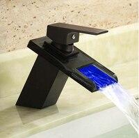 Высокое качество античная масло втирают бронзовый из светодиодов водопад кран ванной кран с двумя компьютерами 50 см сантехника шланги