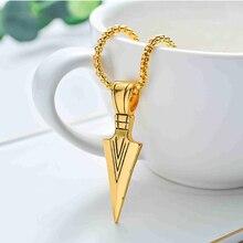 Sale 1PC Punk Striking Mens Vintage Alloy Spearhead Arrowhead Pendant Necklace for Men Chocker Stainless Steel Fashion Jewelry