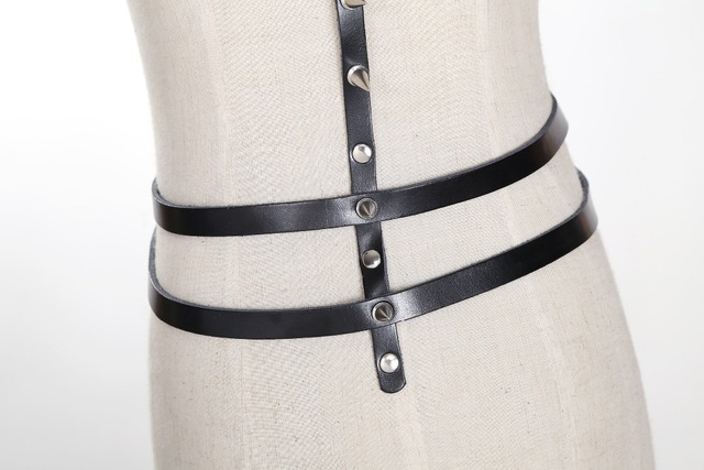 Sexy Garter Leather Harness Great For Nightclub Girl