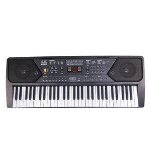 61 клавиша цифровая музыкальная клавиатура пианино электронная клавишная доска орган с микрофоном аксессуары для начинающих
