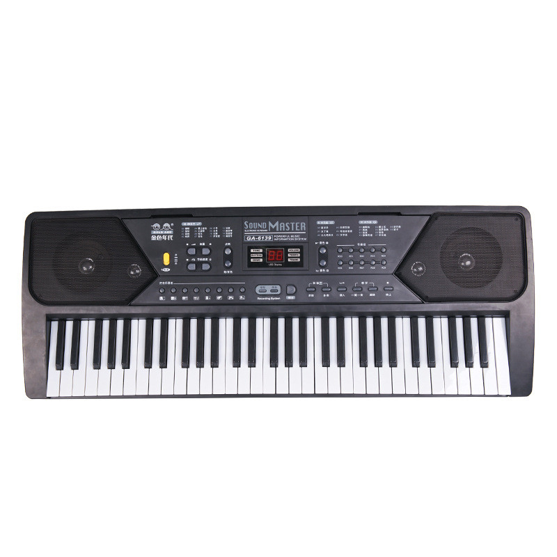 61 Keys Digital Musical KeyBoard Piano Electronic Key Board Organ With Microphone Accessories For Beginner