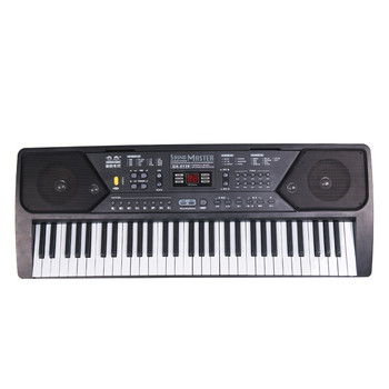 61 Keys Digital Musical KeyBoard Piano Electronic Key board Organ With Microphone Accessories For Beginner electronic organ 61 keys electronic portable silicone flexible hand roll up piano built in speaker midi out keyboard organ