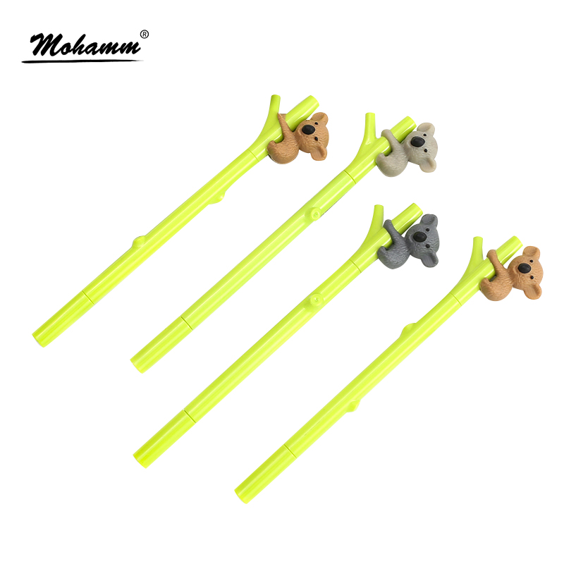 0.38mm Creative Cute Koala Branches Black Ink Gel Pen Signing Pen Writing Tool School Office Supply Student Stationery y46 4x cute adorable cartoon animals gel pen signing pen student stationery school office supply kid gift 0 5mm black ink