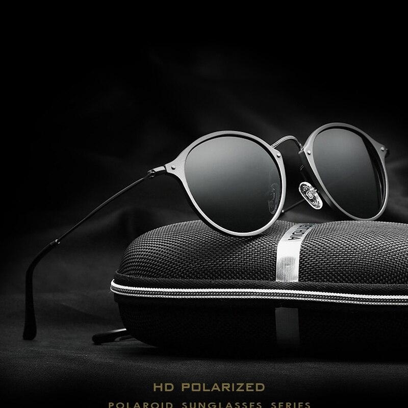 VEITHDIA Merk Fashion Unisex Zonnebril Gepolariseerde Coating Spiegel Rijden Zonnebril Ronde Mannelijke Eyewear Voor Mannen/6358