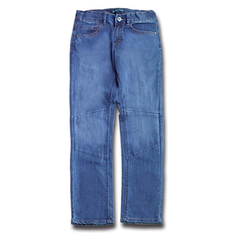 2017 Neue Stilvolle Jungen Casual Denim Jeans Jugendliche Marineblau Hose Patchwork Kinder Licht Farbe Hosen Kinder Kleidung Eine GroßE Auswahl An Modellen