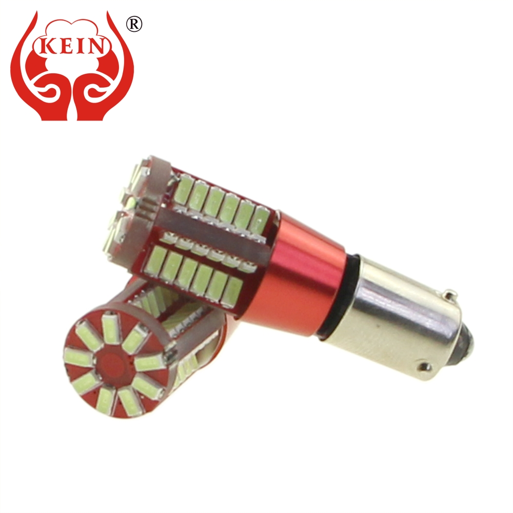 KEIN 2PCS H6W BAX9S led car 57SMD 6000K Clearance Bulb License Plate Tail Rear fog Side Wedge Lights DRL red yellow Signal Lamp