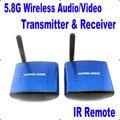 New PAT 530 5.8G Wireless AV TV Audio Video Sender Transmitter Receiver IR Remote Support 8 Ground 200m for IPTV DVD STB DVR
