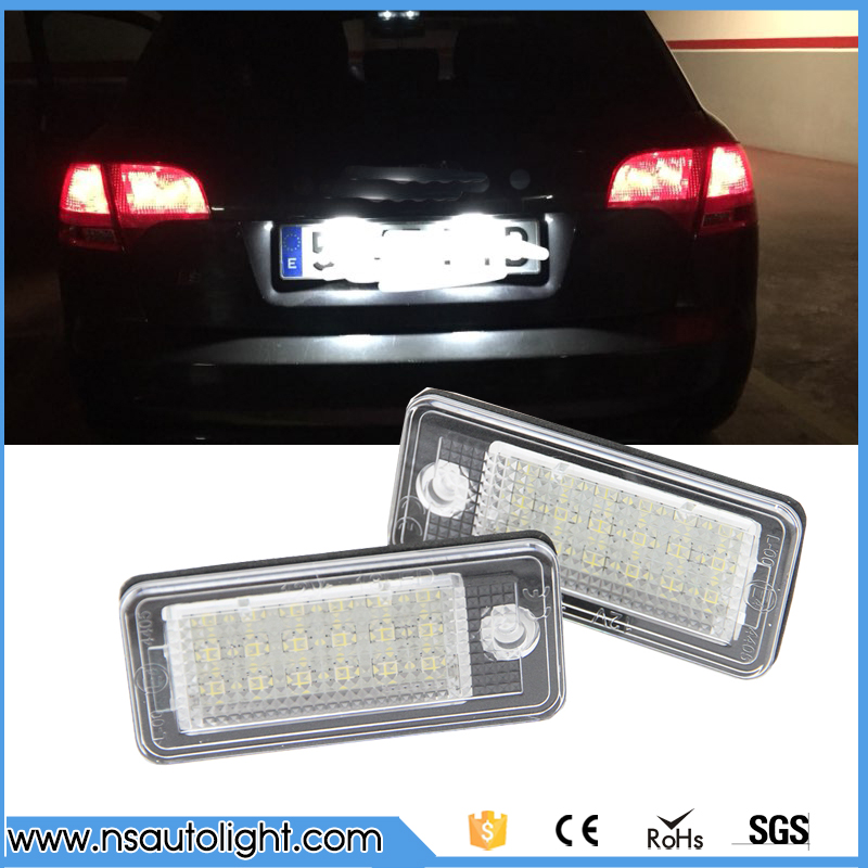 2Pcs Car LED License Plate Lights 12V SMD3528 Number Plate Lamp Bulb Kit For Audi A6 c6 Q7 A4 b7 A4 b6 8E A3 S3 A8 S8 S6 RS4 RS6 доска для объявлений dz 1 2 j8b [6 ] jndx 8 s b