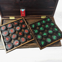 1 компл. высокое Одежда высшего качества эбенового дерева сделаны китайские шахматы традиционные 32 чессман развлечения XiangQi игры палисандр