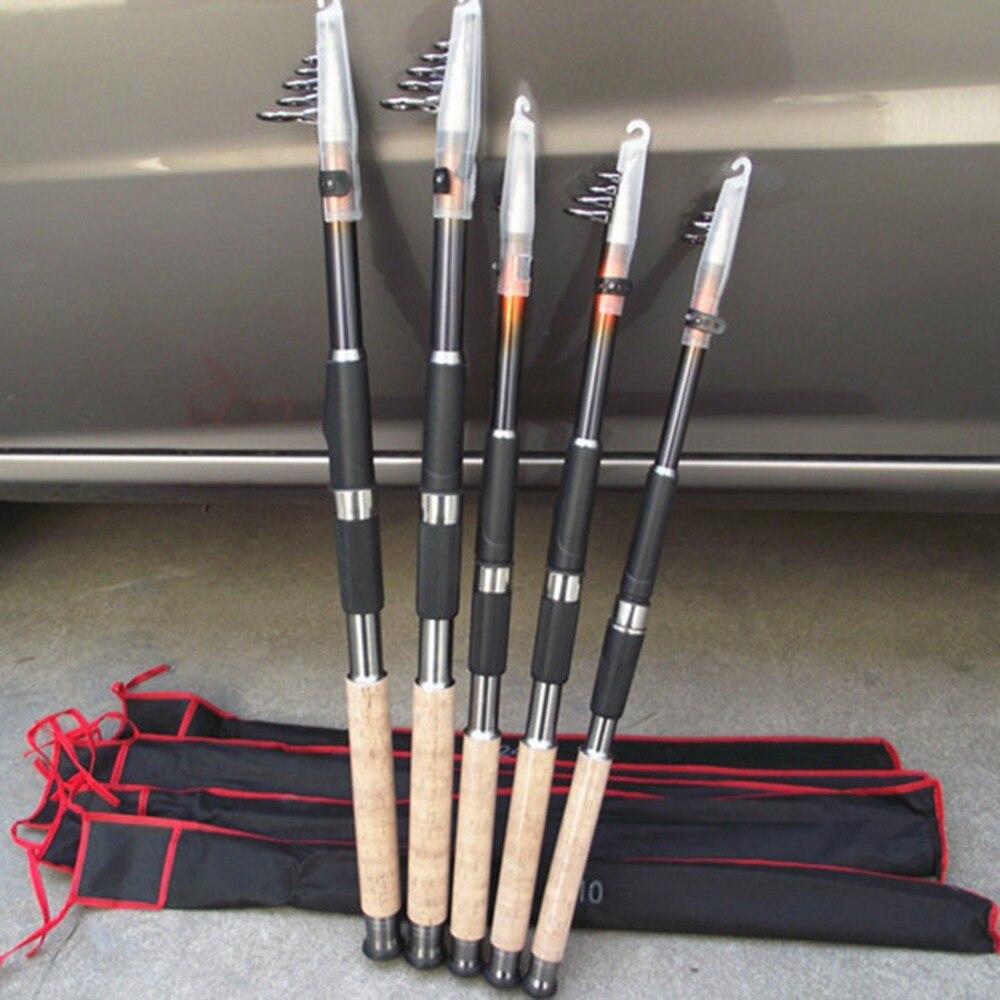 2.1m 2.4m 2.7m 3.0m 3.6m Portable Telescopic Fishing Rod Spinning Fish Hand Fishing Tackle Sea Rod Ocean Rod