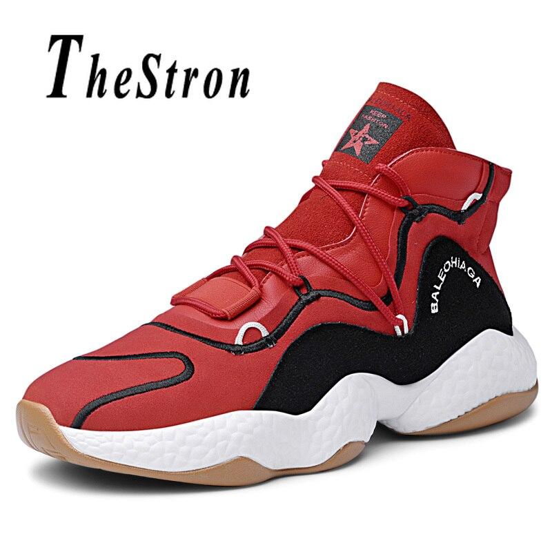 Chaussures de basket-ball à lacets pour hommes chaussures de sport de basket-ball en cuir pour hommes