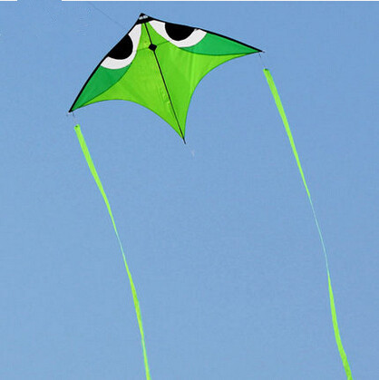 New High Quality Trangle Power Carbon Rod Ripstop Nylon Kite With Handle And String Good Flying