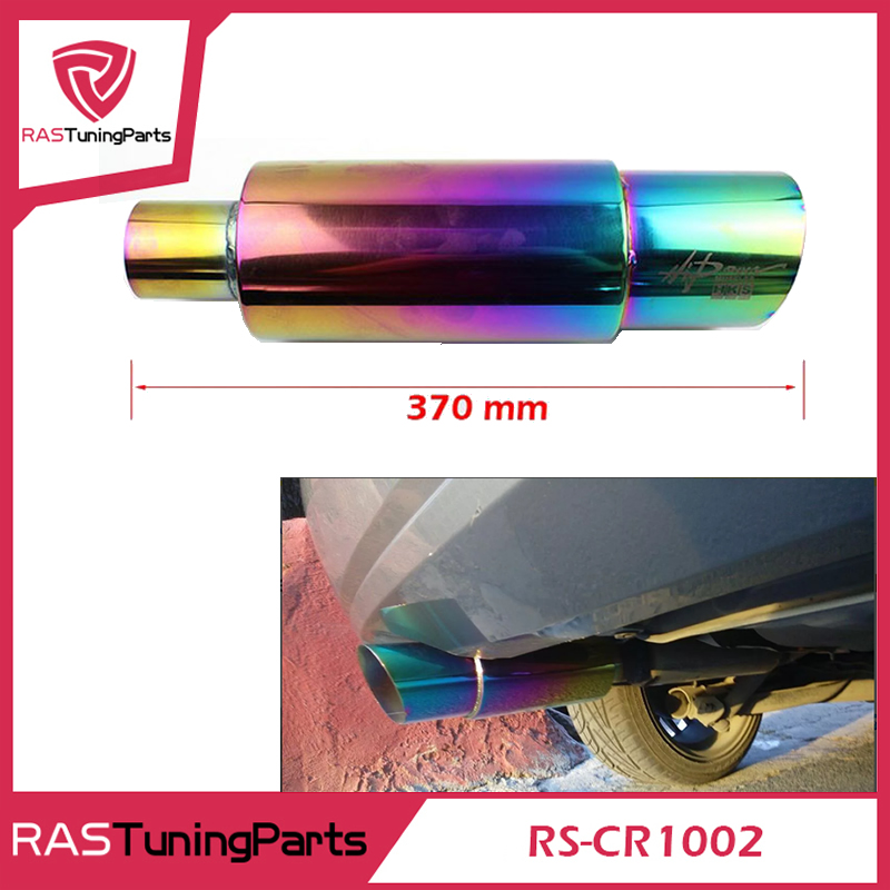 Neo Chrome Hi Power Universal 304 Stainless Steel Exhaust Racing Muffler Tip Car RS-CR1002 - LINK AUTO LTD.,CO store