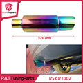 Neo Chrome Hi Power Universal 304 Stainless Steel Exhaust Pipe Racing Muffler Tip Car Exhaust Pipe RS-CR1002