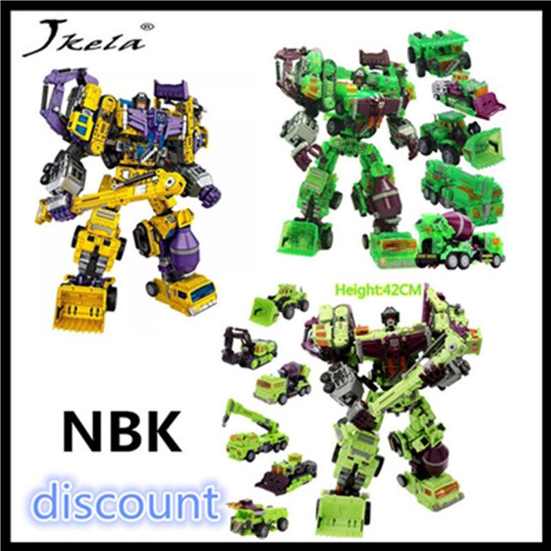 [Jkela] All NBK Transformation Robot 6 in 1 in stock Ko Version Gt Scraper Of Devastator Action Figure toys for children gift