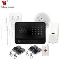 Yobangセキュリティワイヤレスgsm警報システムモニターwifiホームのgsm警報システムalarma gsm双方向無線lan alarmasハウ