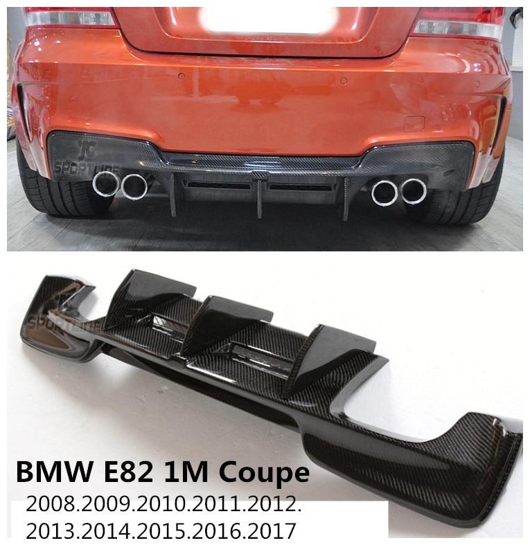 For BMW E82 1M Coupe 2008-2017 Carbon Fiber Rear Lip Spoiler Auto Bumper Diffuser High Quality Carbon Fiber Car Modification