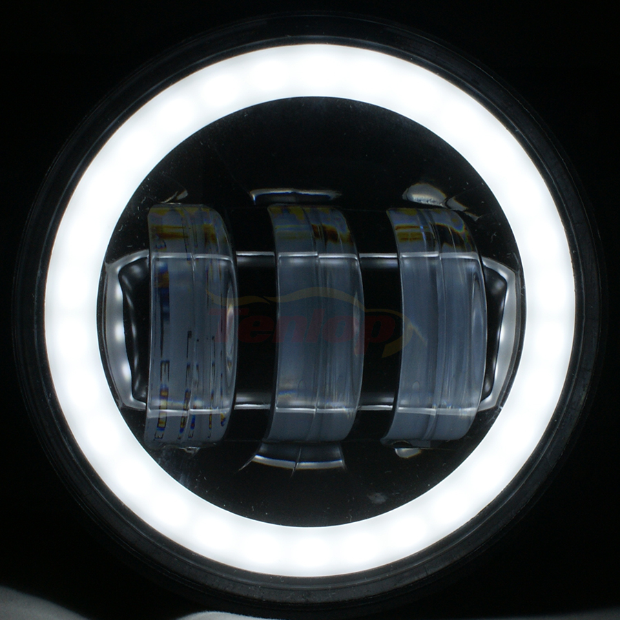 Супер яркий 4 дюймов 30W передний бампер туман света DRL для Wrangler TJ и JK в СИДЖЕЯ