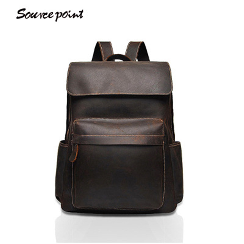 YISHEN Vintage Crazy Horse Genuine Leather Men Backpack Casual Large Capacity Male Travel Bags School Bags For Boys YD-01912# подвесной светильник favourite wendel 1602 1pc