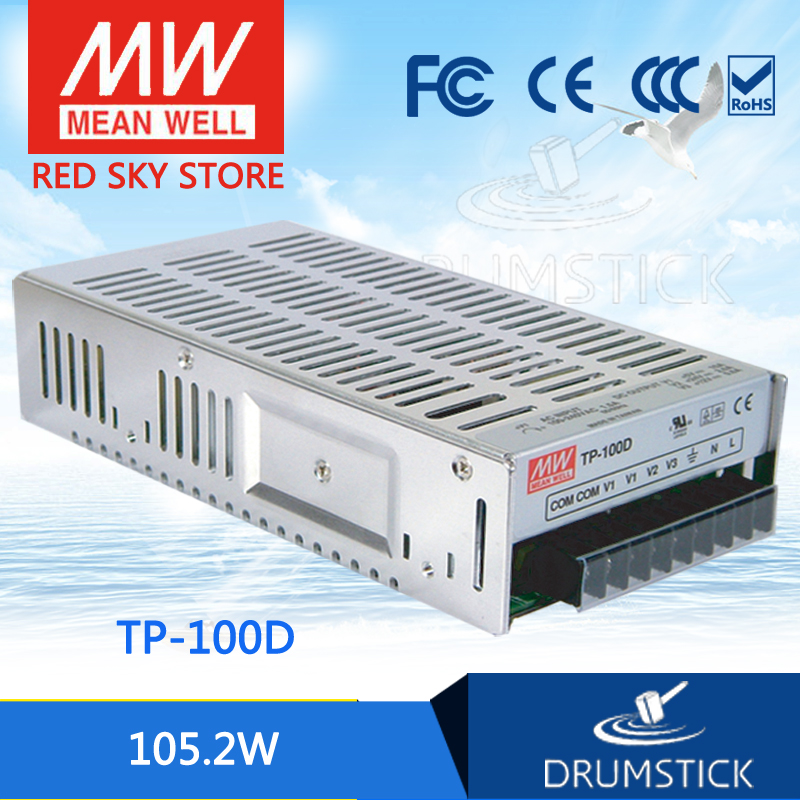 Advantages MEAN WELL TP-100D meanwell TP-100 105.2W Triple Output with PFC Function Power Supply hot selling mean well tp 150a meanwell tp 150 150w triple output with pfc function power supply