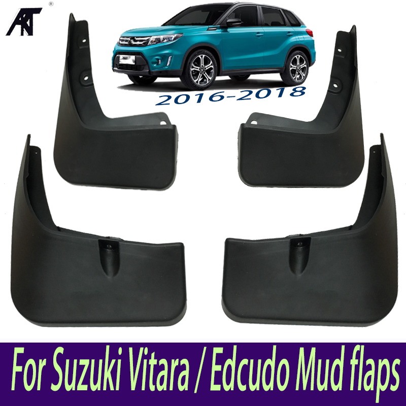 Mud Flap Car Mud Flaps For Suzuki Vitara / Edcudo Mudguards Fender 2016 2017 2018 Front & Rear Protector Mudflaps Splash Guards fit for bmw x3 f25 11 15 molded mudflaps mud flap splash guard mudguards fender free shipping lzh