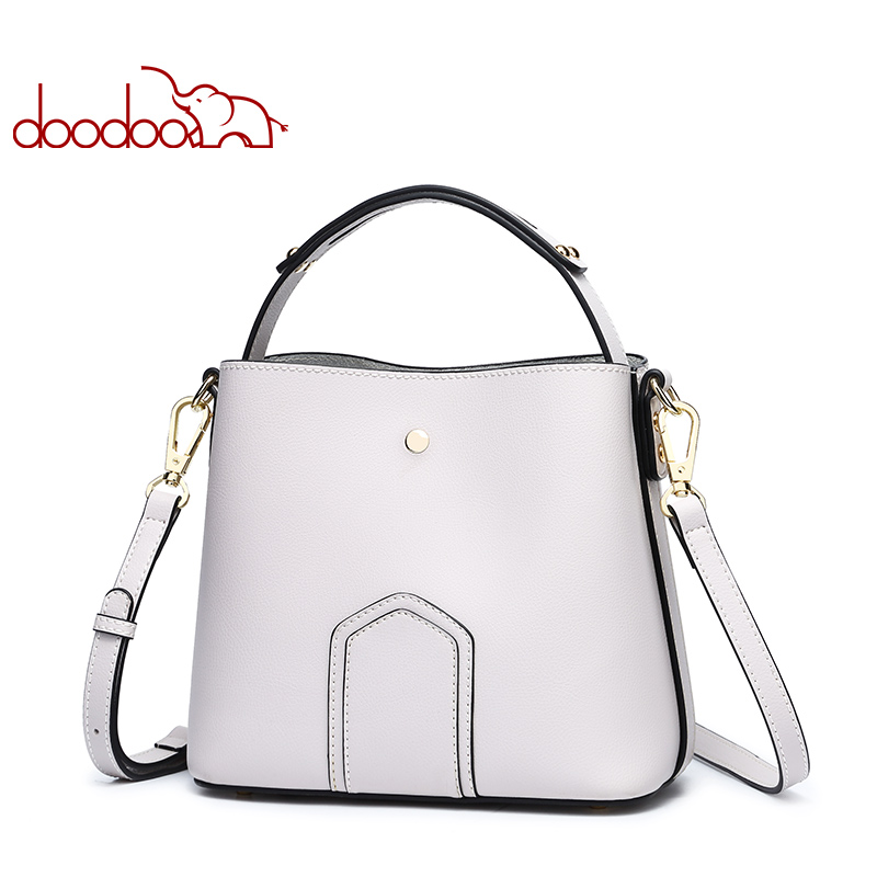 DOODOO Brand Women Handbag Tote Bucket Bag Female Shoulder Crossbody Bags 2018 Ladies Pu Leather Spell Color New Top-handle Bag цена